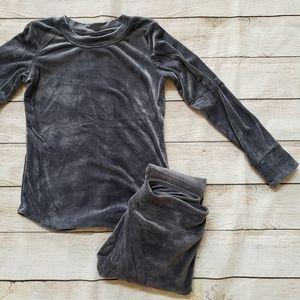 Cuddl Duds Double Plush Velour 2-piece Sweater Set